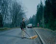 Man Standin`over Dead Dog